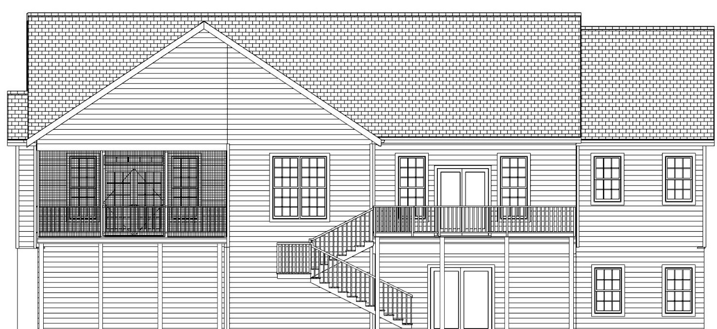 The Bluefield, Rear Elevation