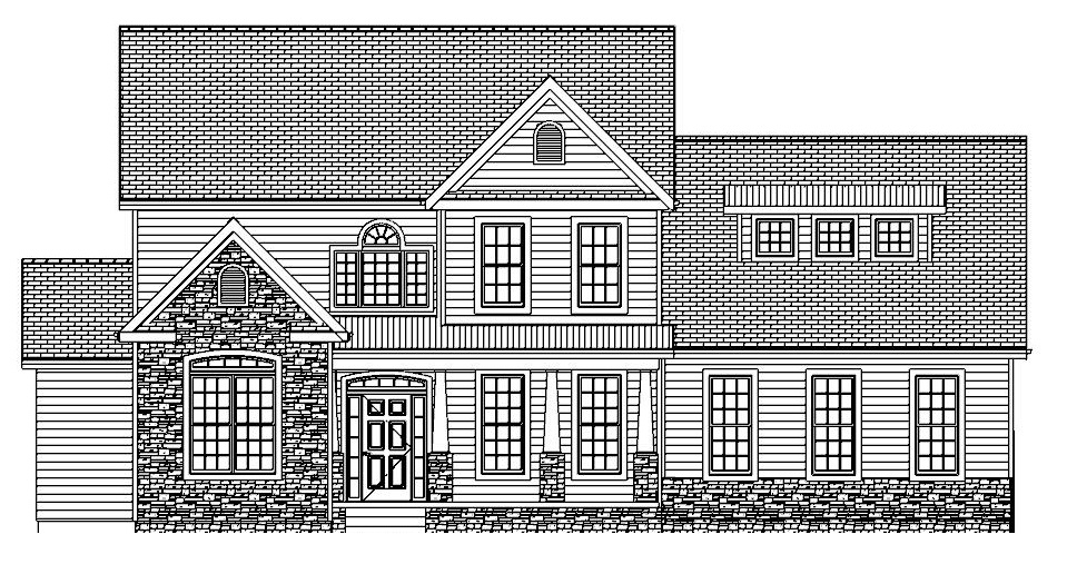 The Liberty, Front Elevation