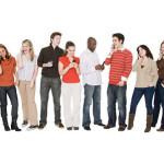 People using cell phones   Original Filename: people cell phones.jpg