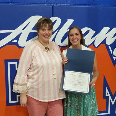 Albany Scholarship Emma Guenther