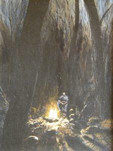 """Alone"", acrylic by John Huisman"