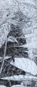 Grouse, pen & ink by John Huisman