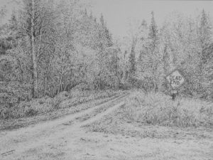 Dead End 12x9 pencil sketch