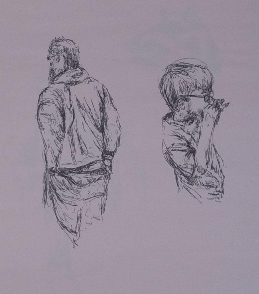 Some quick Gel pen sketches by John Huisman