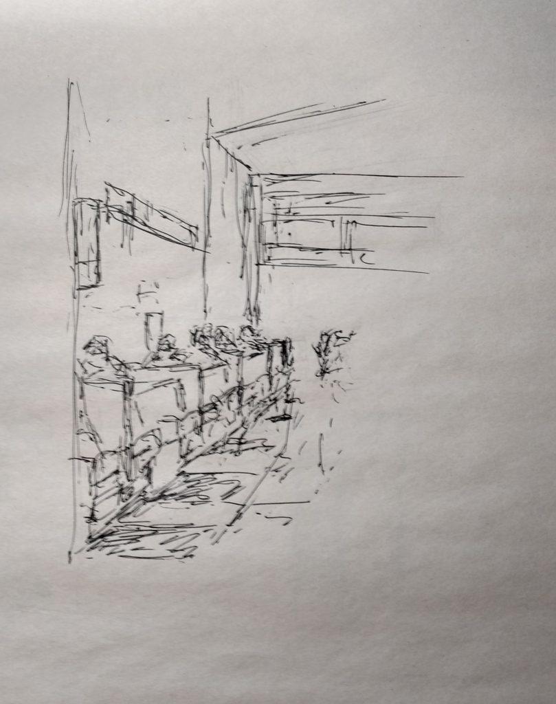 Sketches, pen, bilillo's J Huisman (1)