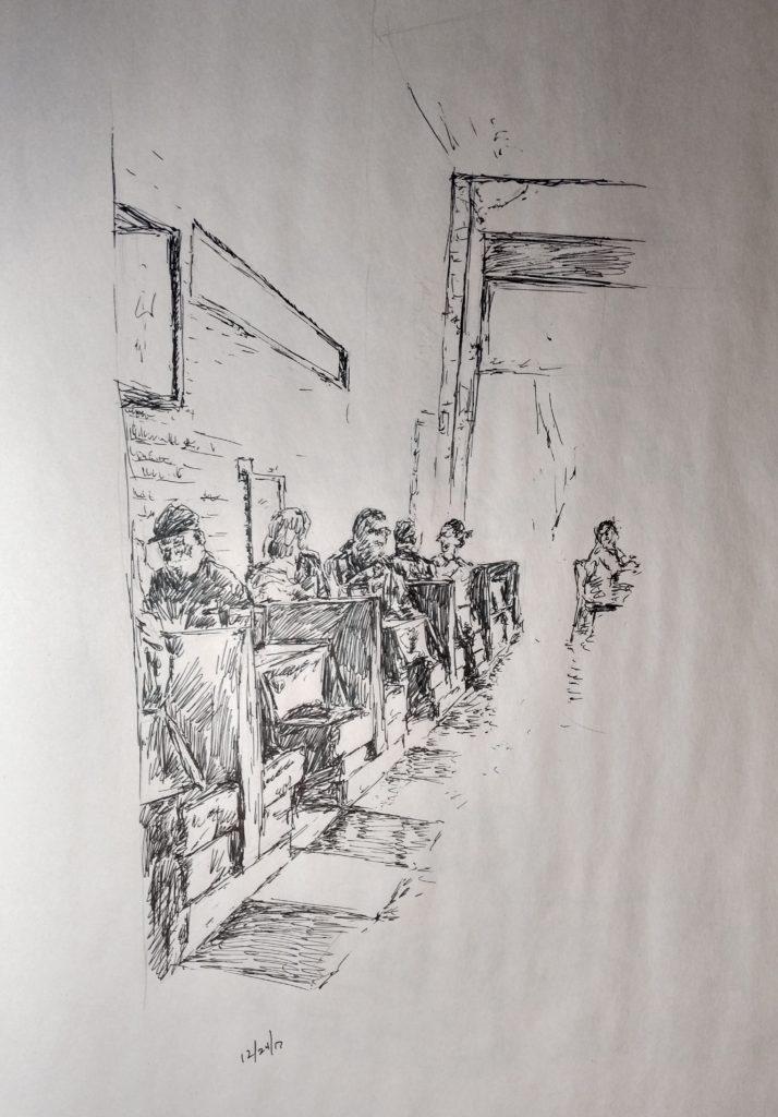 Sketches, pen, bilillo's J Huisman (5)