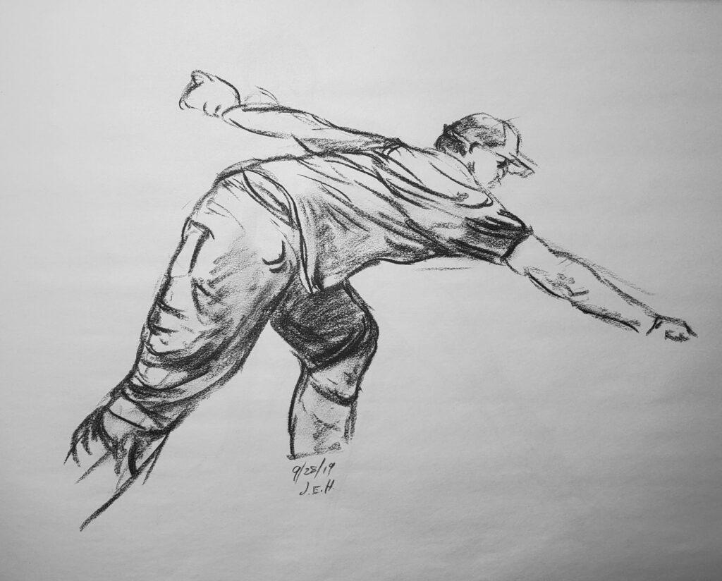 Pencil sketch John Huisman