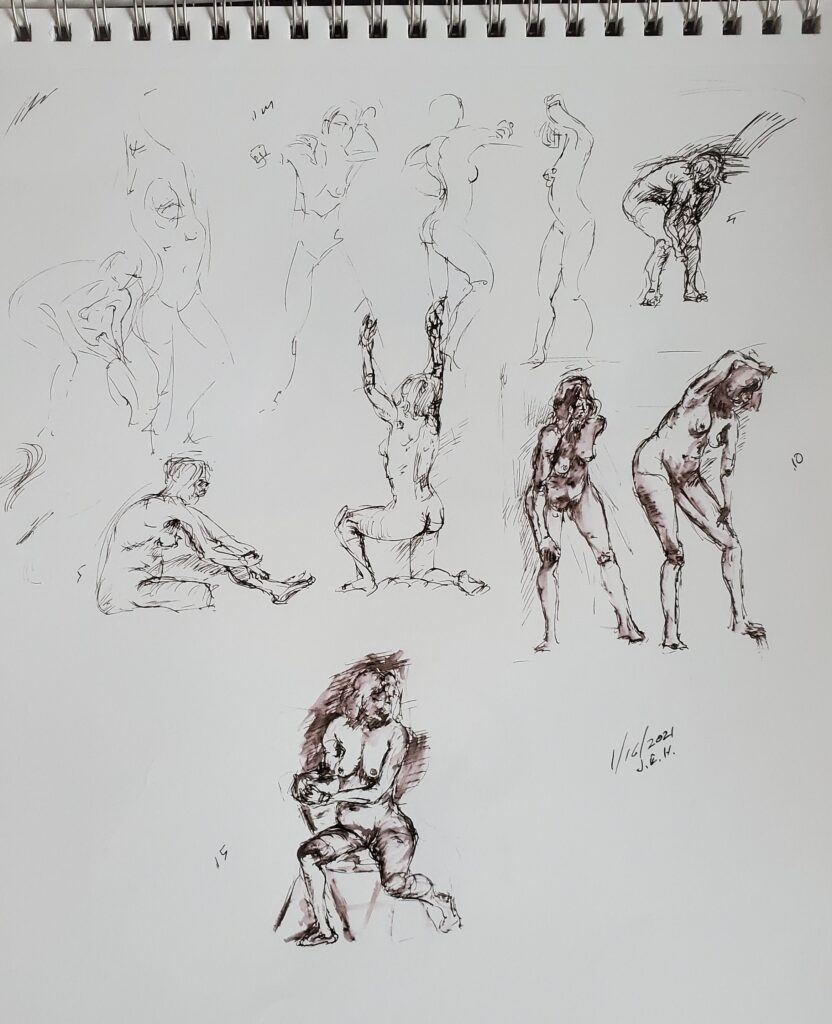 Figure drawing at art works eagan
