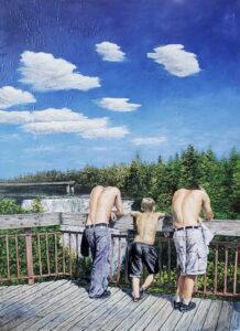 Oil painting by John Huisman