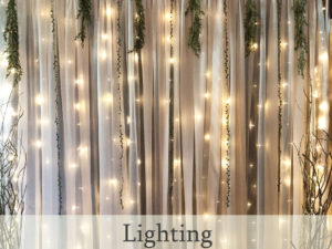 Lighting options for events and weddings