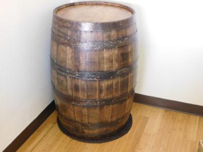Oak whiskey barrel event decor for rent
