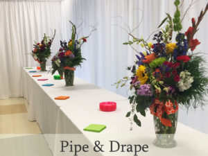 Pipe & drape for special occasions, weddings, and events