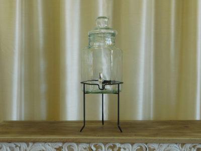 Beverage Dispenser on Iron Stand