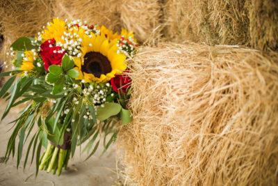 Rustic floral decor wedding rental
