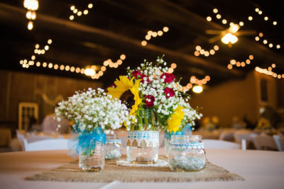 Glass Vases with Ribbons Rental