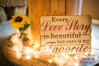 Love Story Sign and Lights Decor
