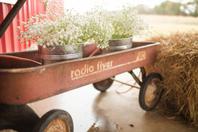 Wagon with Flower Pails