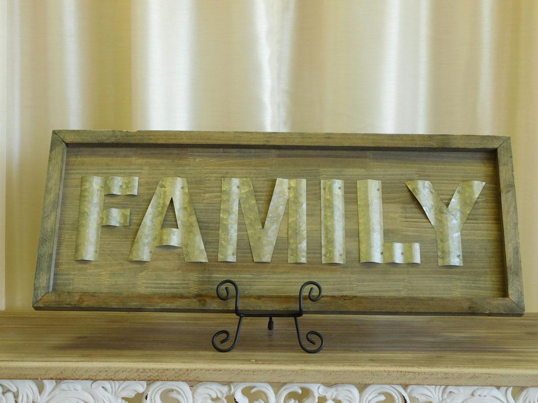 Wooden Wall Decor - Family