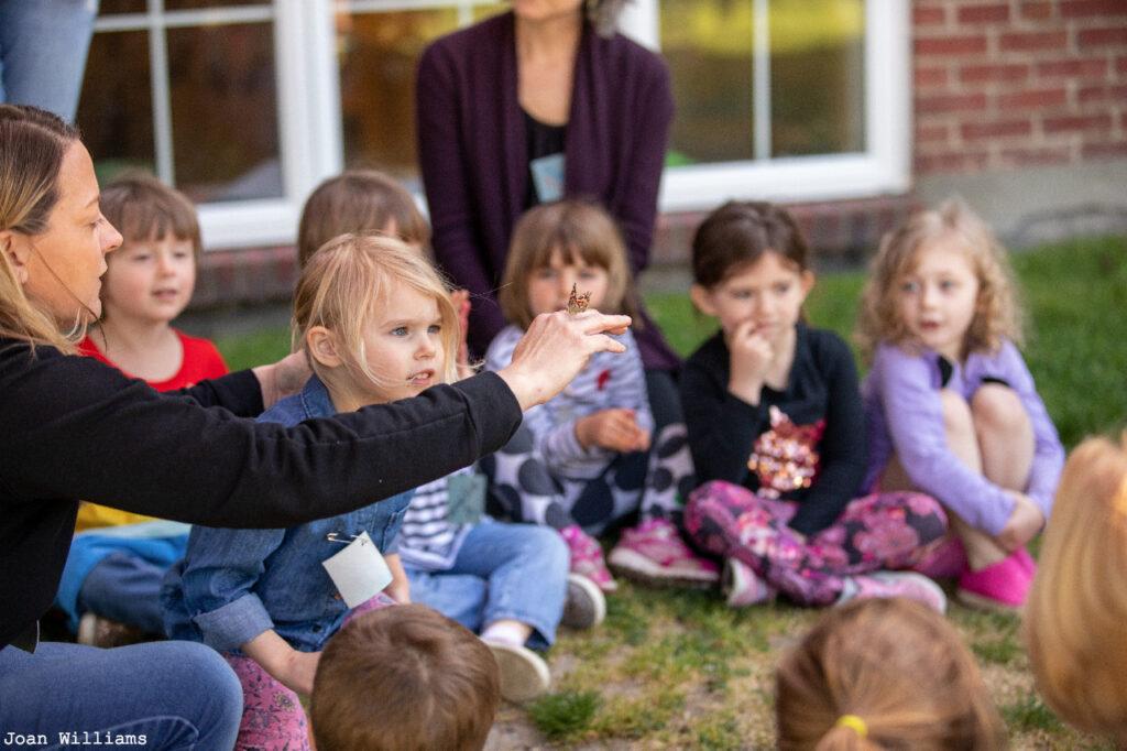 PreK Teacher Jena outdoors