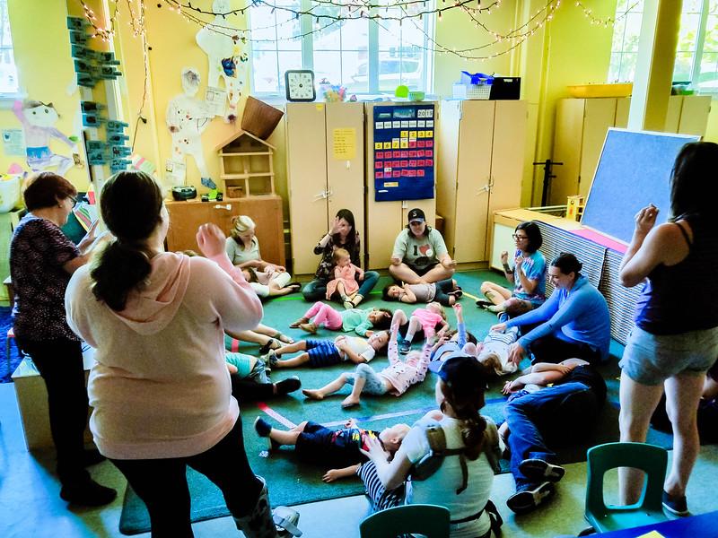 Circle time at Alki Co-op Preschool