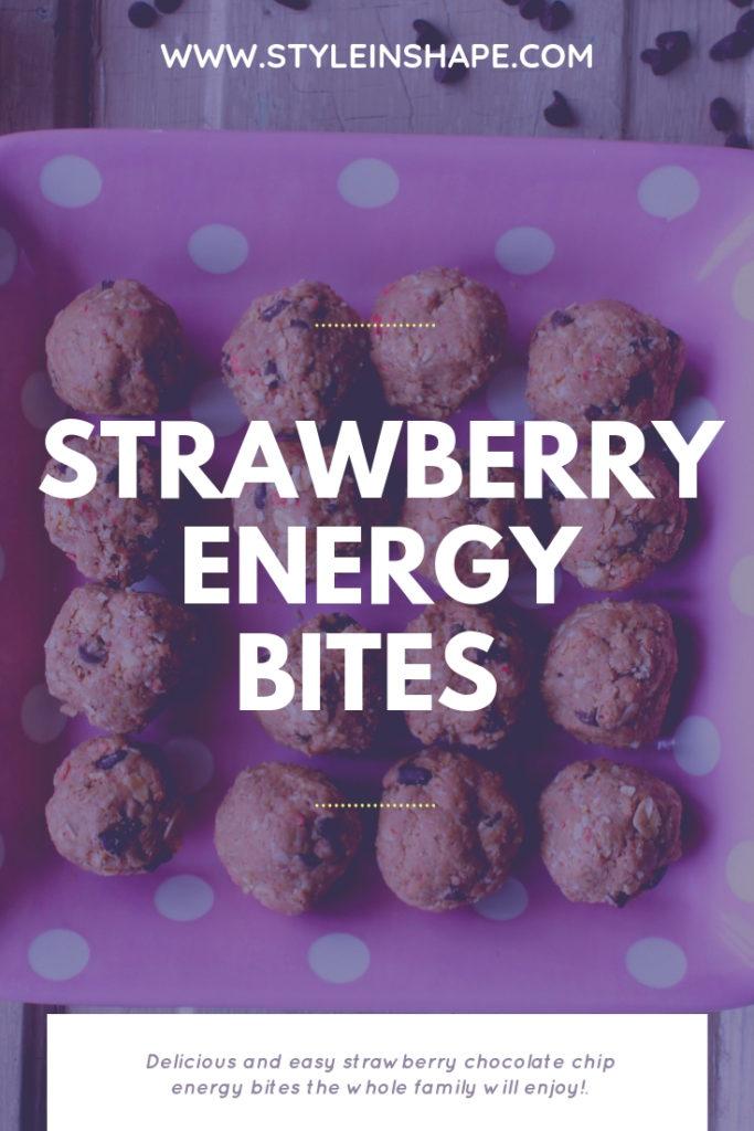 Strawberry Energy Bites