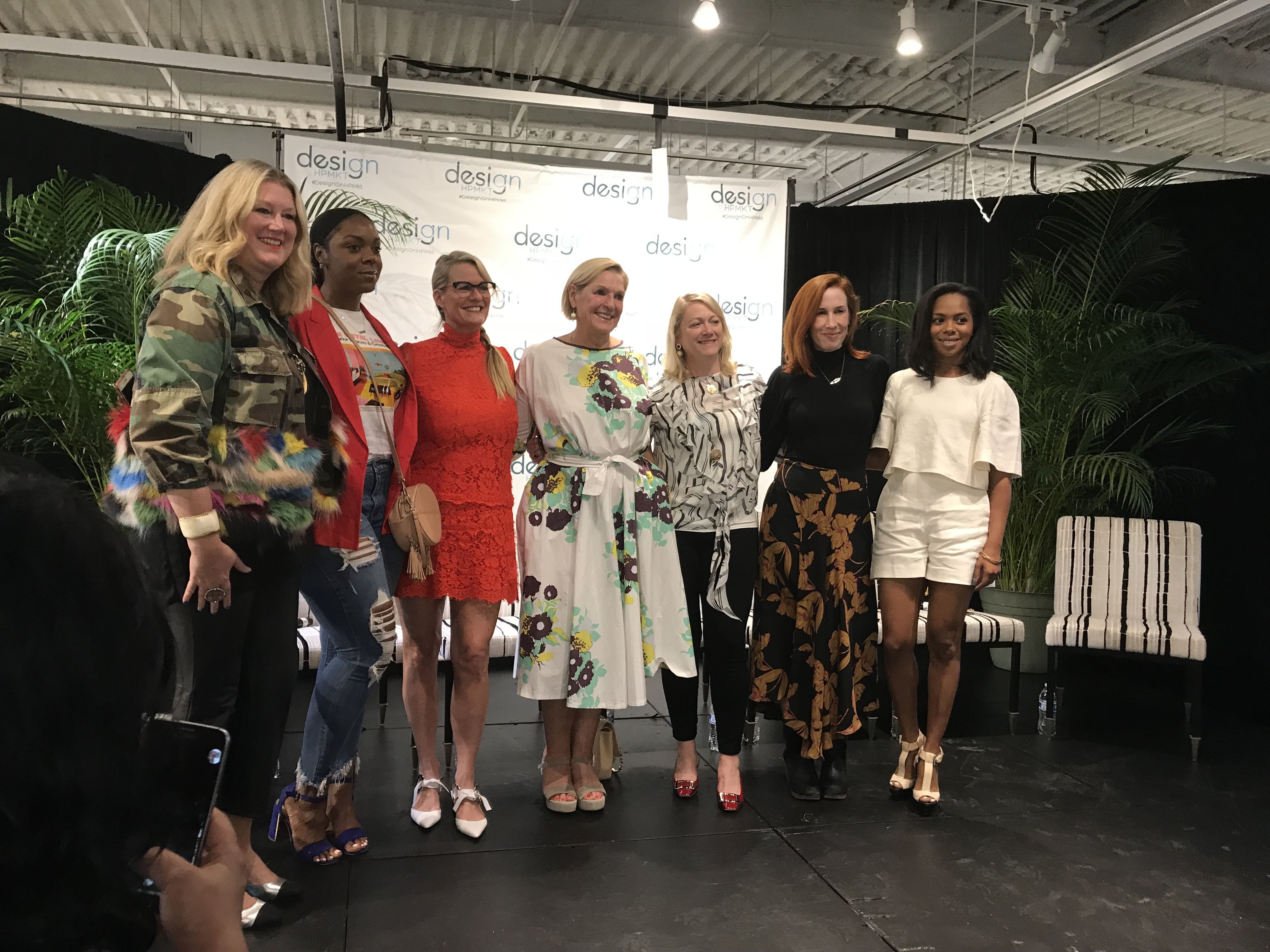 Fearless Design Panel moderated by Holly Hollingsworth Phillips with Mally Skok, Julia Buckingham, Jaimie Meares, Alison Mattison, Tavia Forbes and Monet Masters