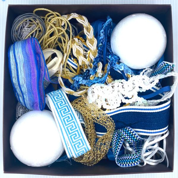 Trim Queen Carolina Blue Ornament Kit