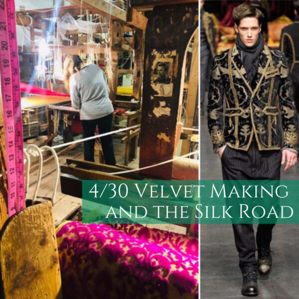 Velvet making and the silk road