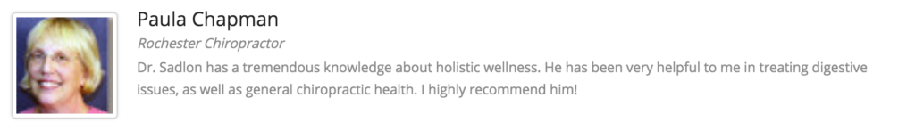 Rochester Holistic Medicine testimonial