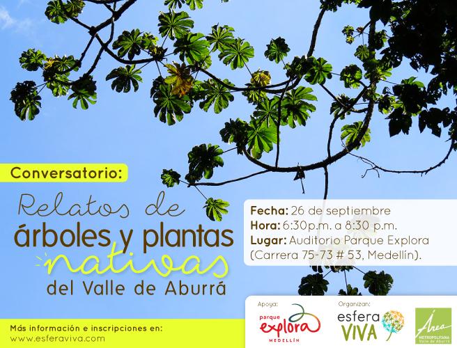 árboles y plantas nativas del Valle de Aburrá