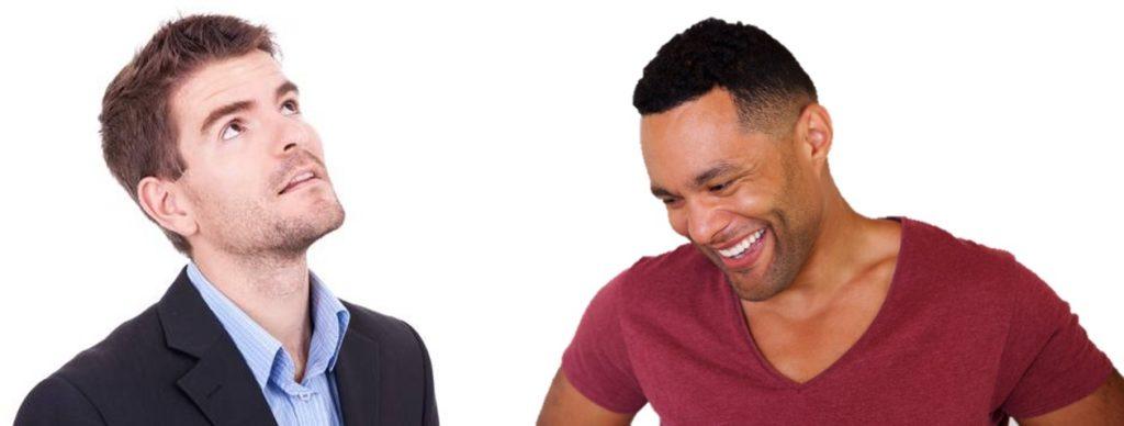 Two Men Looking