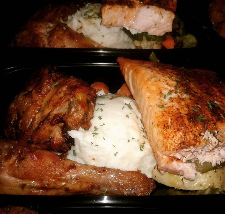 Catering Salmon and Chicken