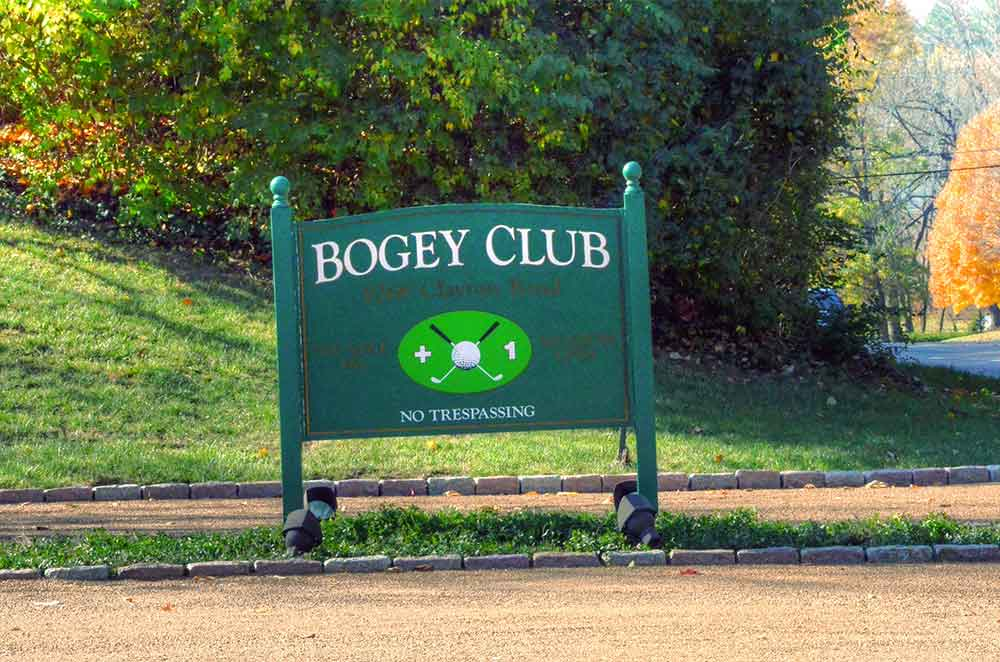 The Bogey Club, St. Louis, Missouri, Sign