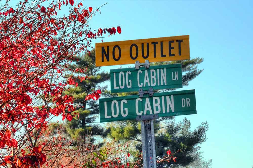 Log Cabin Club, St. Louis, MO - Street Sign
