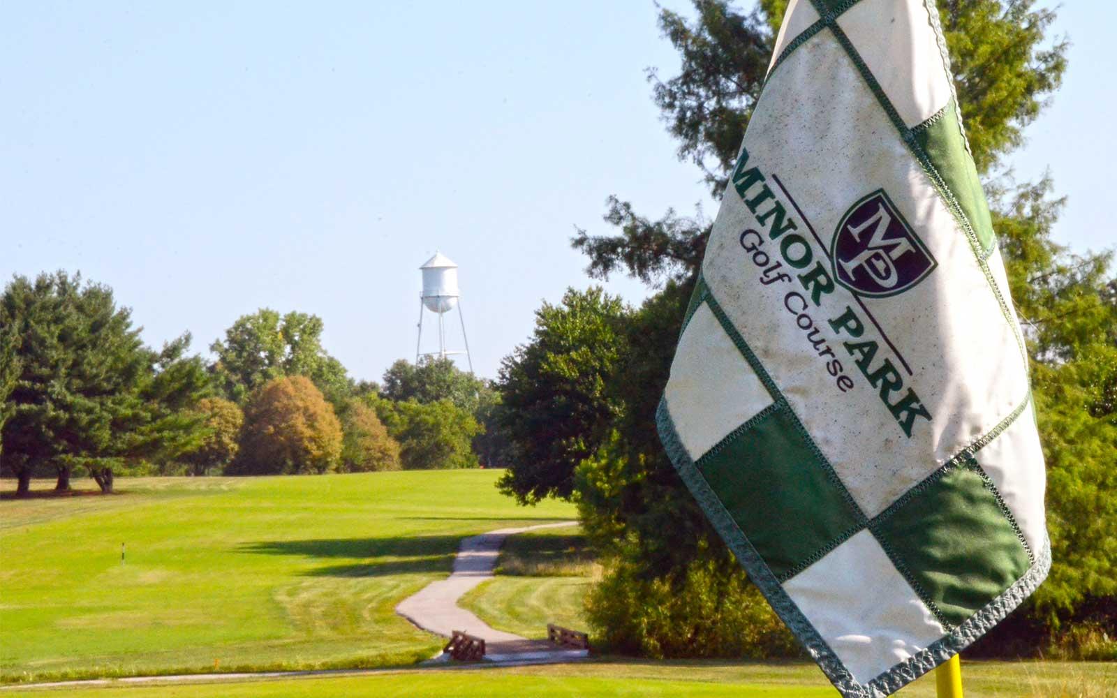 Minor-Park-Golf-Course,-Kansas-City,-MO-Flag