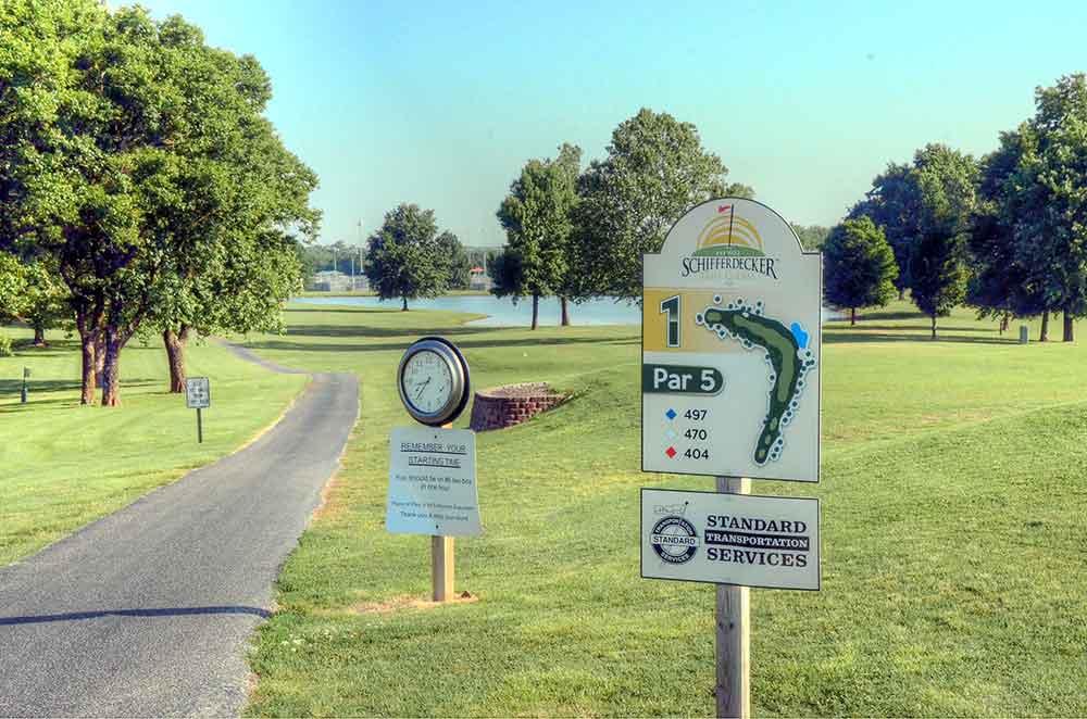 Schifferdecker-Golf-Course,-Joplin,-MO-Tee-Marker