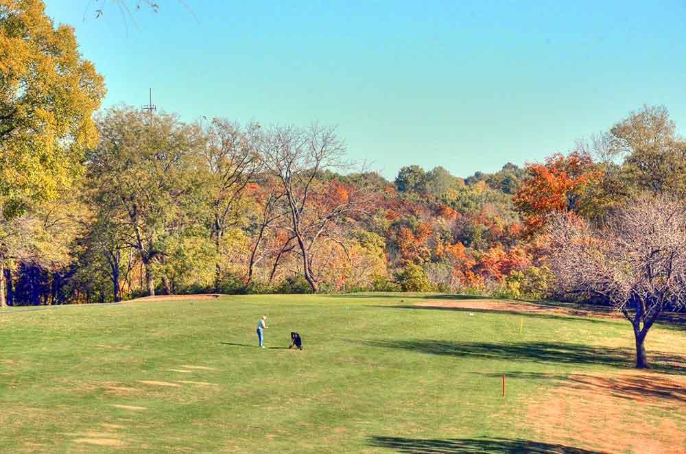Unity-Village-Golf-Course,-Player