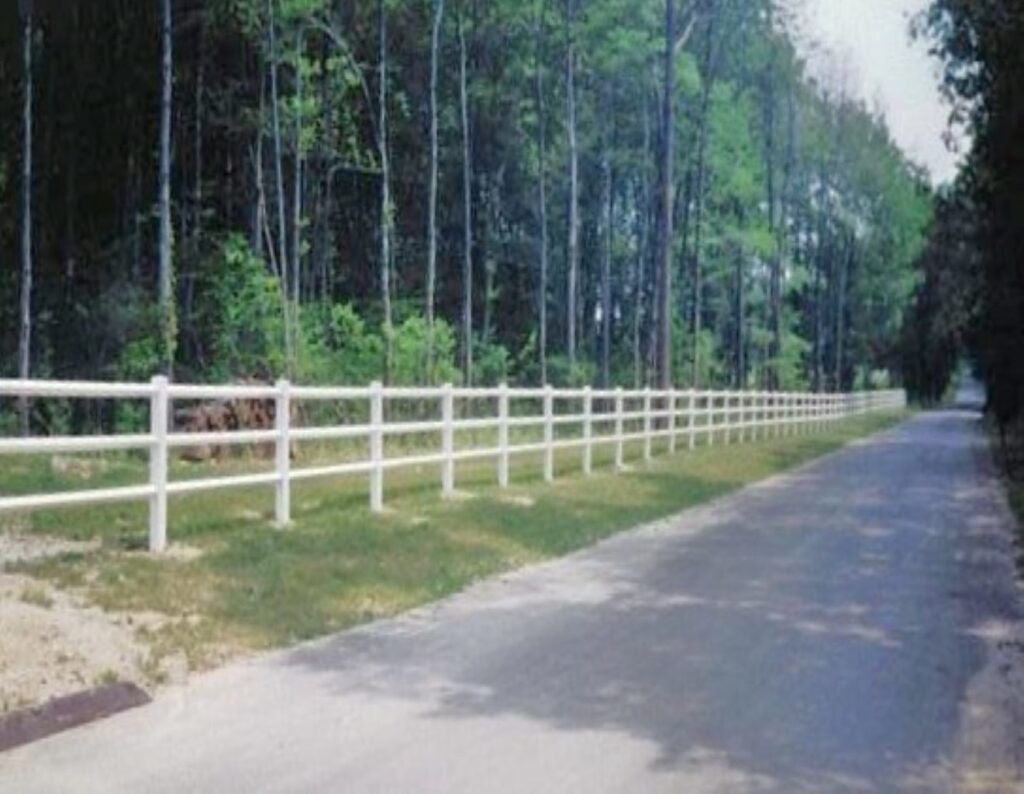 Long 3 Rail Post and Rail Fence