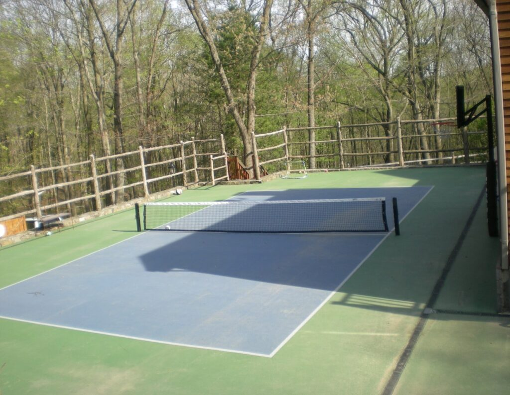 Post and Rail Tennis Court Fence