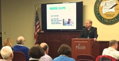 Joe Fab addressing the GMU audience