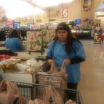 Leanna bagging groceries at Albertson's!
