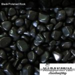 Black Polished Rock - Maranatha Landscape Bakersfield