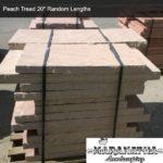Peach Tread 20 inch Random Lengths - Maranatha Landscape Bakersfield