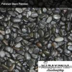 Polished Black Pebbles - Maranatha Landscape Bakersfield