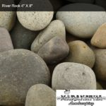 "River Rock 4"" X 8"" - Maranatha Landscape Bakersfield"