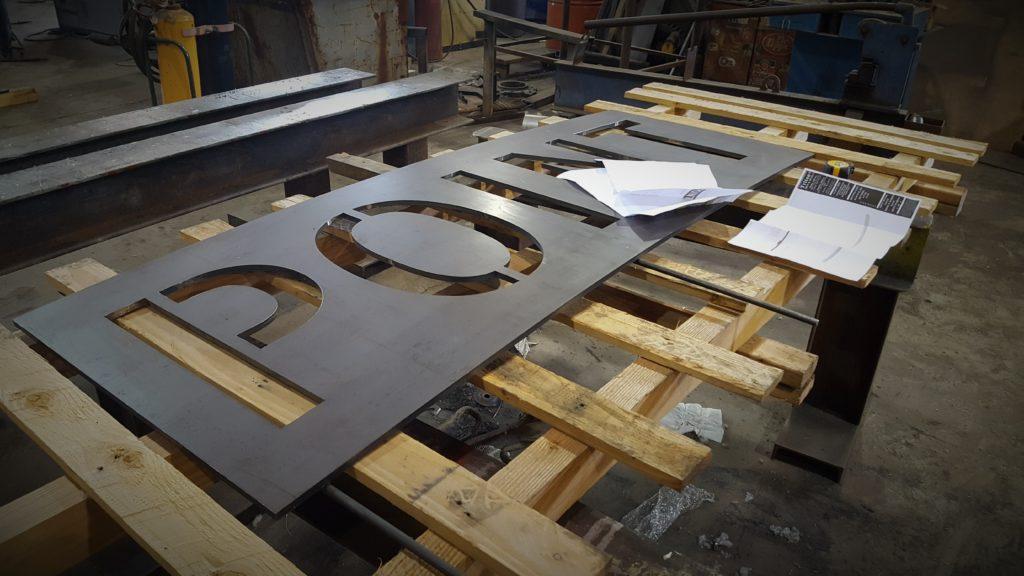 Weathering Steel Signage
