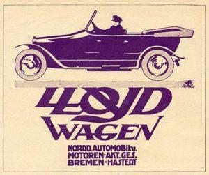 1913 Lloyd Tourer Advert
