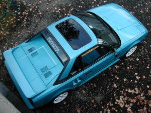 1986 Toyota MR2 in Light Blue Metallic