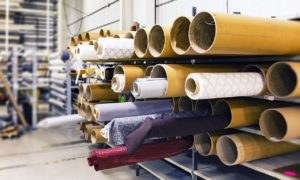 Rolls of Upholstery Fabric