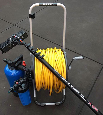 Water Fed Pole System from Shiny Happy Window Cleaning